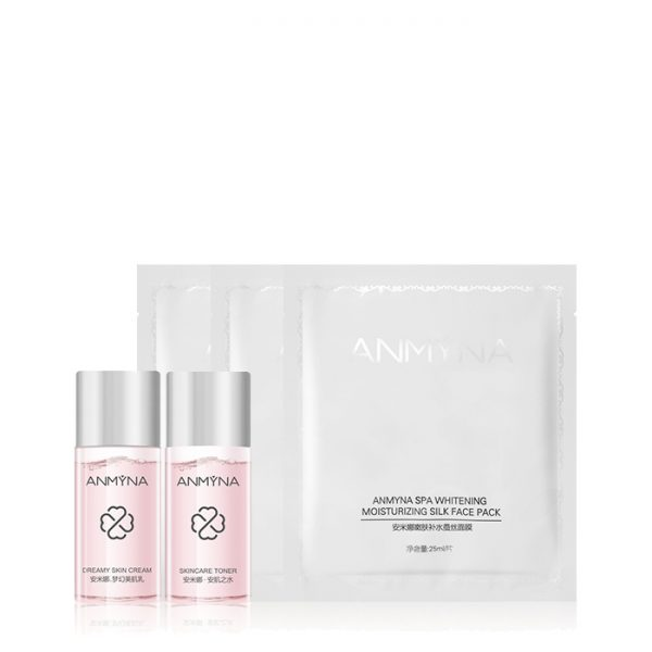 Anmyna Promotion Set - Add On - Skincare Toner Mini, Dreamy Skin Cream Mini, SPA Whitening Moisturising Silk Face Pack Mini